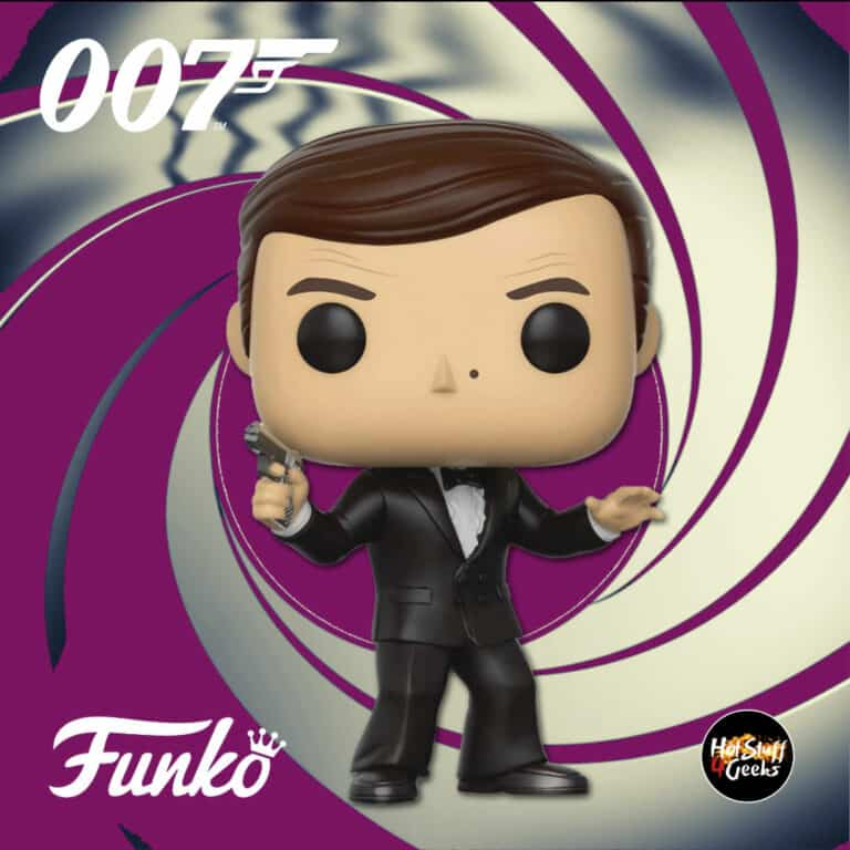 Funko Pop! Movies: 007 James Bond – The Spy Who Loved Me: James Bond (Roger Moore) Funko Pop! Vinyl Figure