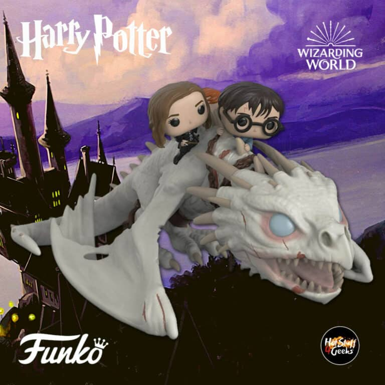 Funko  Pop! Rides: Harry Potter - Dragon With Harry, Ron, and Hermione Funko Pop! Vinyl Figure