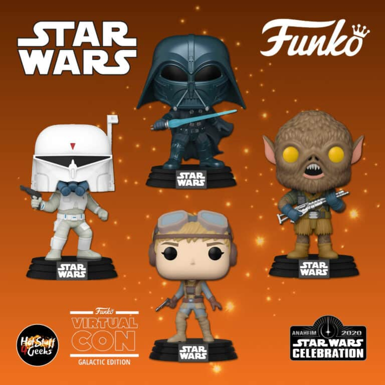 Funko Pop! Star Wars Concept Series - Chewbacca, Boba Fett, Darth Vader, and Starkiller Funko Pop! Vinyl Figures - Star Wars Celebration Anaheim 2020 Galactic Convention Exclusives