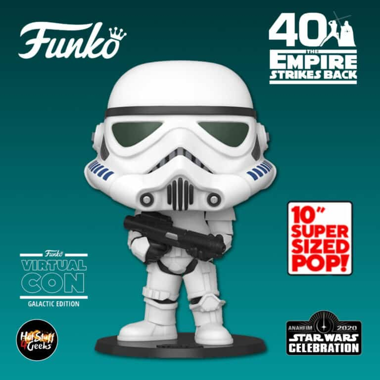 Funko Pop! Star Wars: The Empire Strikes Back 40th Anniversary -  Stormtrooper 10 inch Funko Pop! Vinyl Figure - Star Wars Celebration Anaheim 2020 Galactic Convention and Target Shared Exclusive