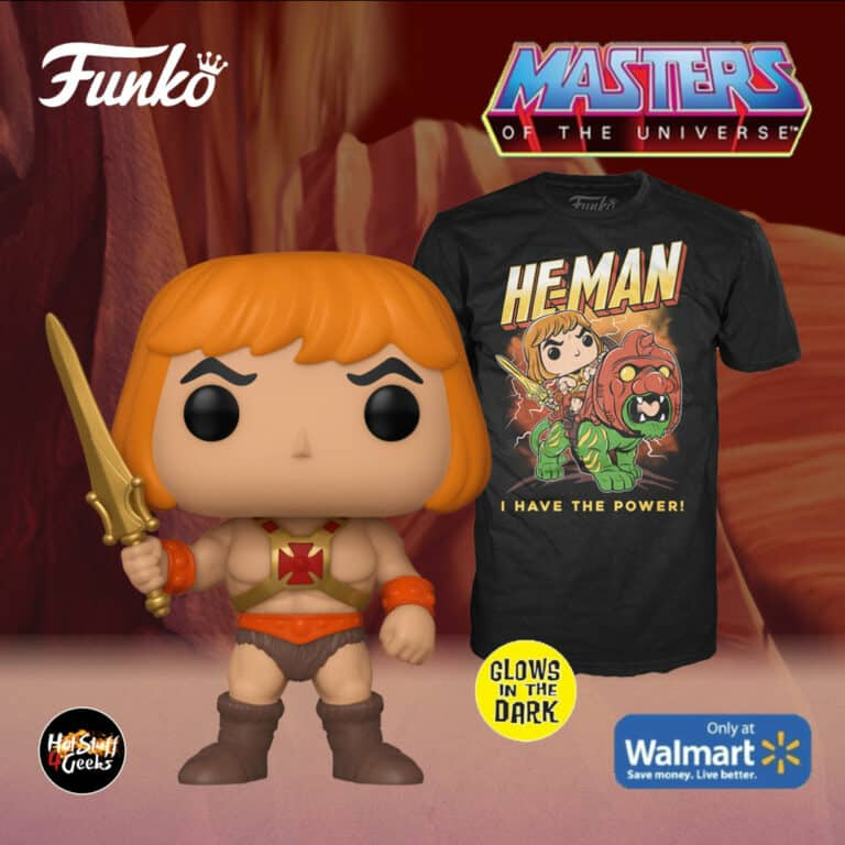 Funko Pop! & Tee: Masters of The Universe - He-Man Glow-In-The-Dark (GITD) Funko Pop! Vinyl Figure and T-Shirt Box Set - Walmart Exclusive