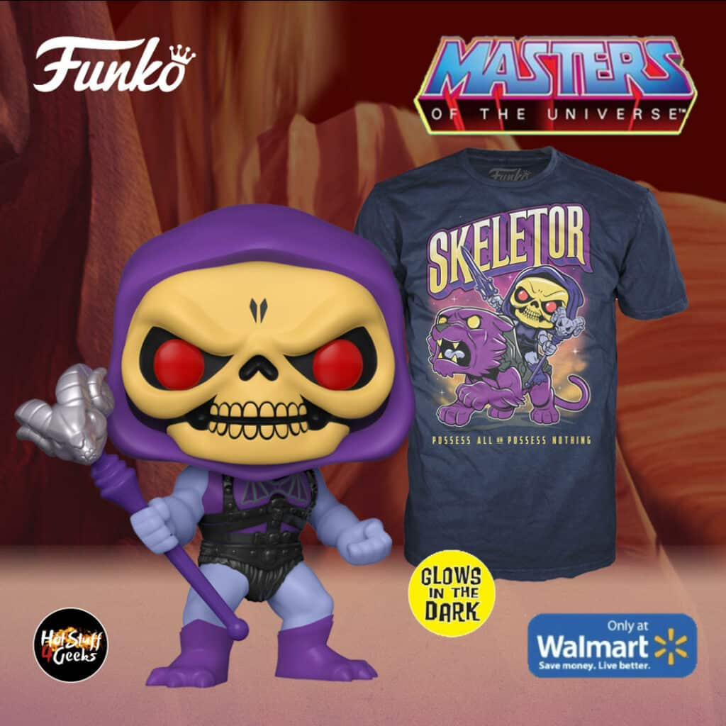 Funko Pop! & Tee: Masters of The Universe - Skeletor Glow-In-The-Dark (GITD) Funko Pop! Vinyl Figure and T-Shirt Box Set - Walmart Exclusive