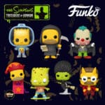 Funko Pop! Animation: The Simpsons Treehouse Of Horror (The Simpsons Halloween specials) - Vampire Krusty, Devil Flanders, Zombie Bart, Reaper Homer, Witch Marge, Bart with Chestburster Maggie, and Homer Jack-in-the-Box Funko Pop! Vinyl Figures 2020 Wave