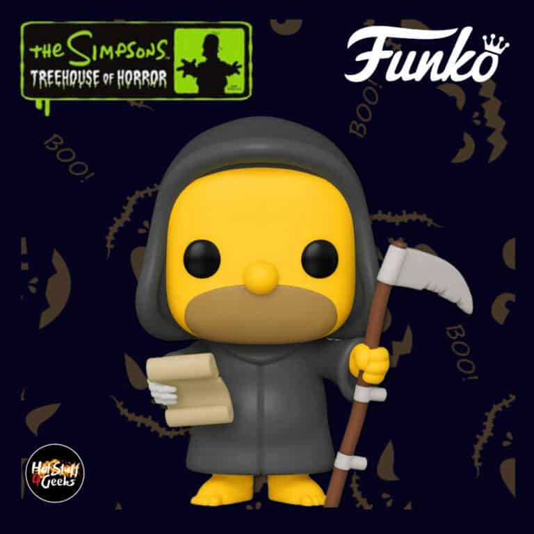 Funko Pop! Animation: The Simpsons Treehouse Of Horror (The Simpsons Halloween specials) - Reaper Homer Funko Pop! Vinyl Figure 2020 Wave