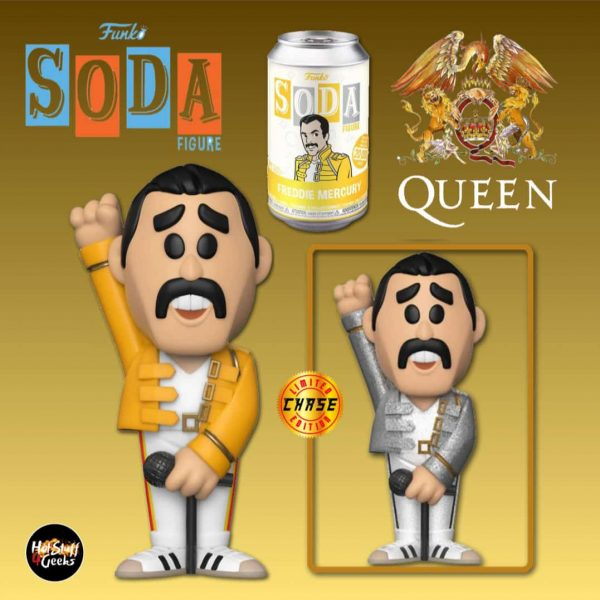 Funko Vinyl Soda: Queen - Freddie Mercury Vinyl Soda Figure With Chase Varian