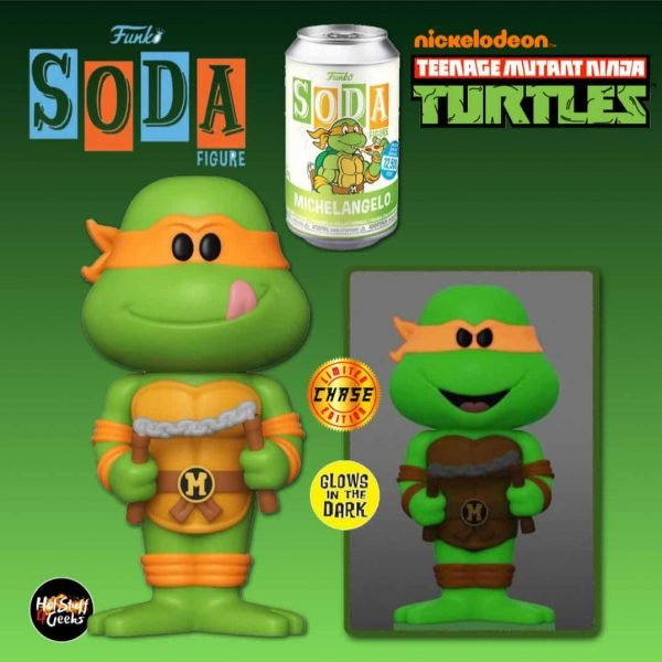 Funko Vinyl Soda: Teenage Mutant Ninja Turtles (TMNT) - Michelangelo Vinyl Soda Figure With Glow-In-The-Dark Chase Variant