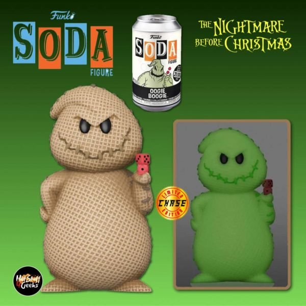 Funko Vinyl Soda: The Nightmare Before Christmas - Oogie Boogie Vinyl Soda Figure With Glow-In-The-Dark Chase Variant