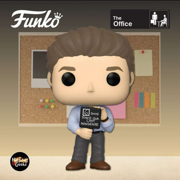 The Funko Pop! Television: The Office - Jim Halpert With Nonsense Sign Funko Pop! Vinyl Figure