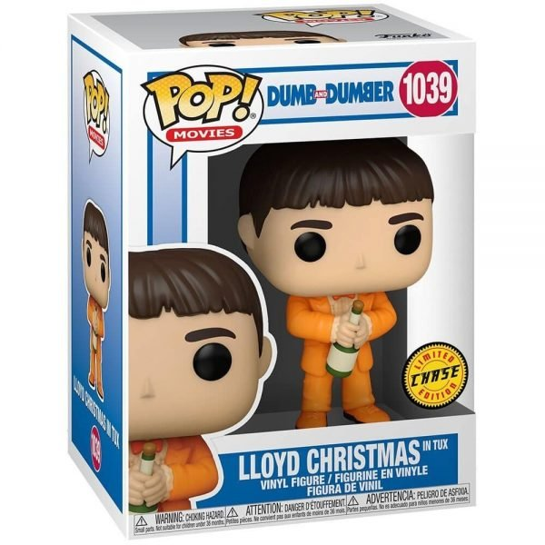 Funko POP! Movies: Dumb and Dumber - Lloyd Christmas in Tux With Case Variant Funko Pop! Vinyl Figure