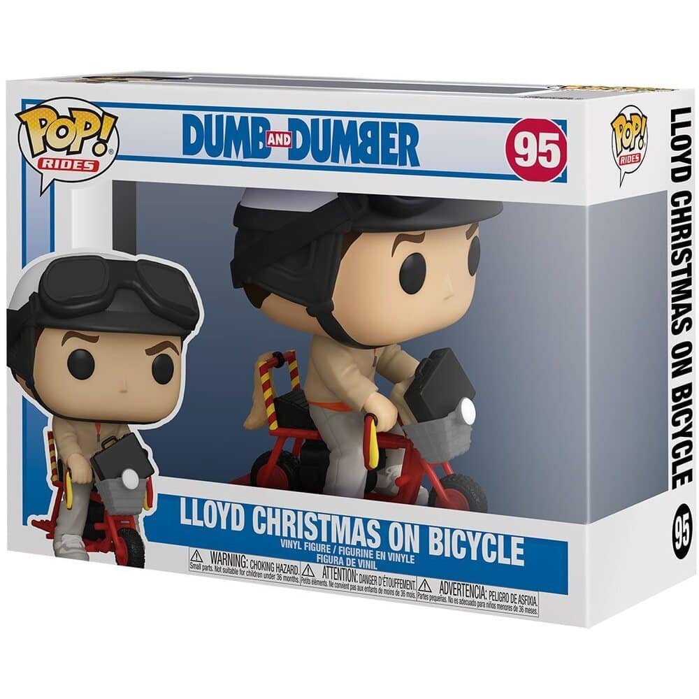 Funko POP! Rides: Dumb and Dumber - Lloyd Christmas on Bicycle Funko Pop! Vinyl Figure