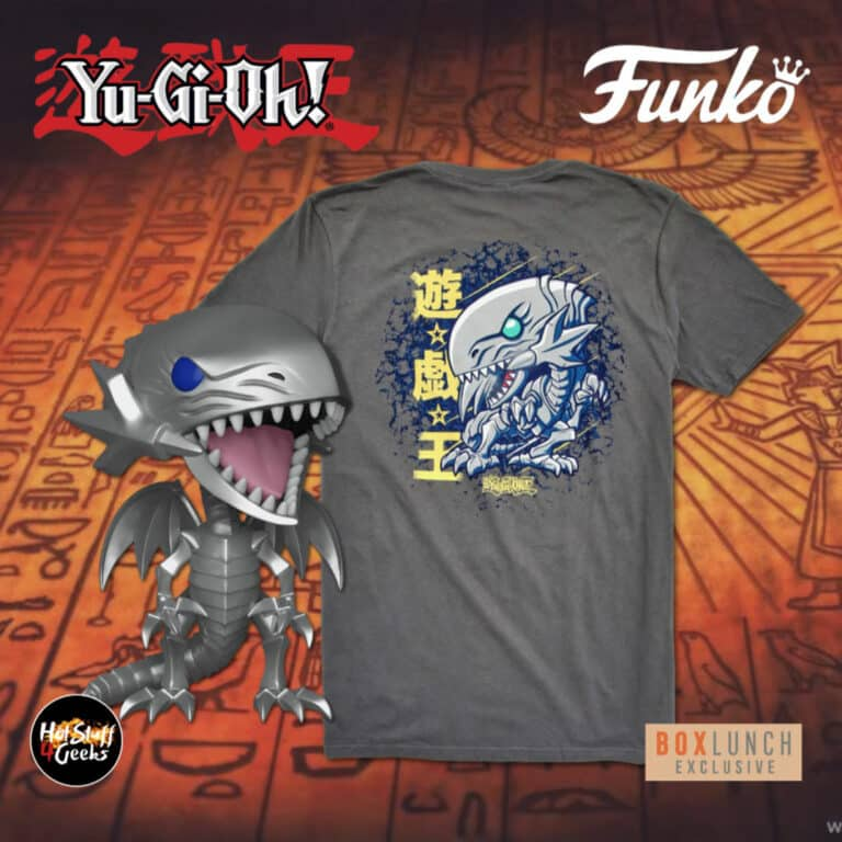 Funko POP! and Tee: Yu-Gi-Oh! – Blue-Eyes White Dragon Funko Pop! Vinyl Figure and T-Shirt Bundle – BoxLunch Exclusive