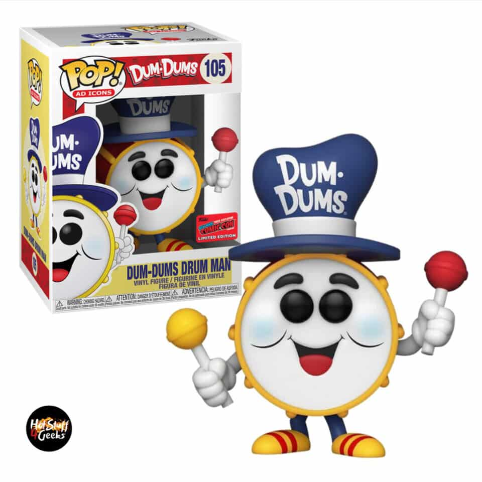 Funko Pop! Ad Icons Dum-Dums - Dum-Dums Drum Man Funko Pop! Vinyl Figure - NYCC 2020 Exclusive