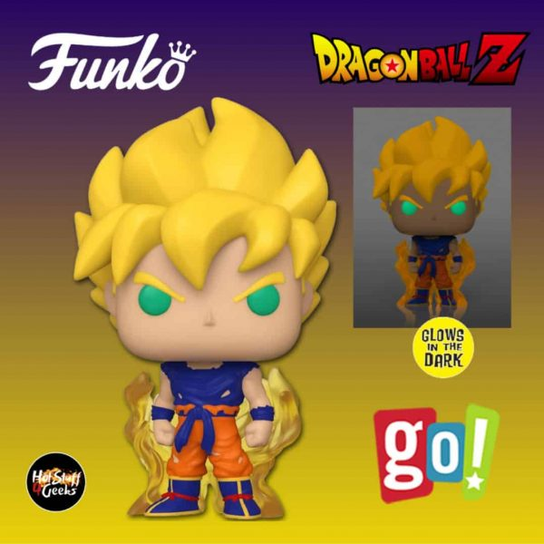 Funko Pop! Animation: Dragon Ball Z (DBZ) - Super Saiyan Goku Glow-in-the-Dark (GITD) Funko Pop! Vinyl Exclusive - Go! Calendars Exclusive