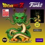 Funko Pop! Animation: Dragon Ball Z (DBZ) - Ultra Size Shenron Metallic Glow-in-the-Dark (GITD) 10-Inch Funko Pop! Vinyl Figure - Funimation Exclusive