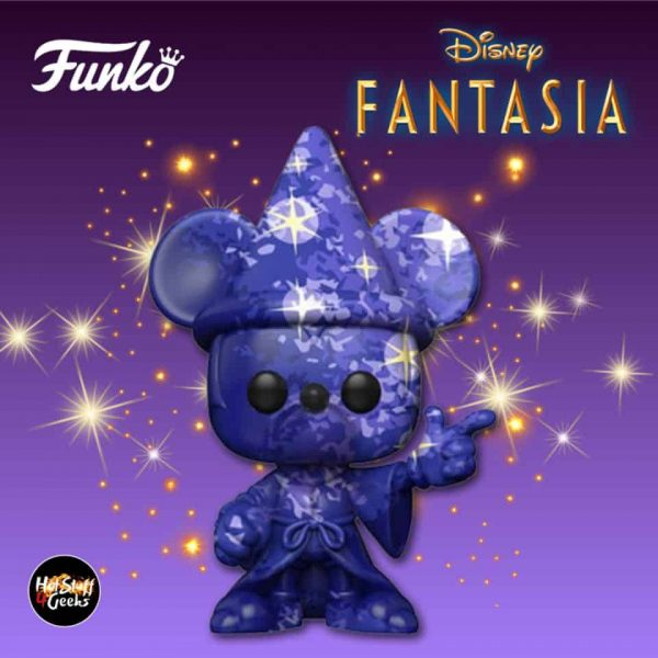 Funko Pop! Art Series: Disney 80th Anniversary: Disney Fantasia: Mickey (Purple) Funko Pop! Vinyl Figure 2020