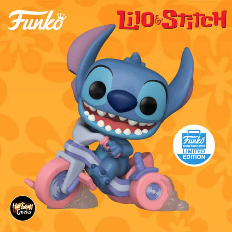 Funko Pop! Disney Deluxe: Lilo & Stich - Stitch on Tricycle Funko Pop! Vinyl Figure - Funko Shop Exclusive