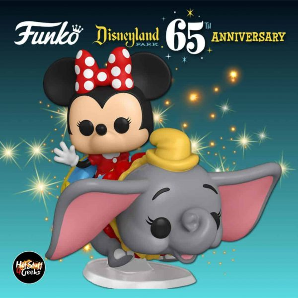 Funko Pop! Rides:  Disneyland Resort 65th Anniversary – Minnie Mouse on Dumbo The Flying Elephant Attraction Funko Pop! Vinyl Figure