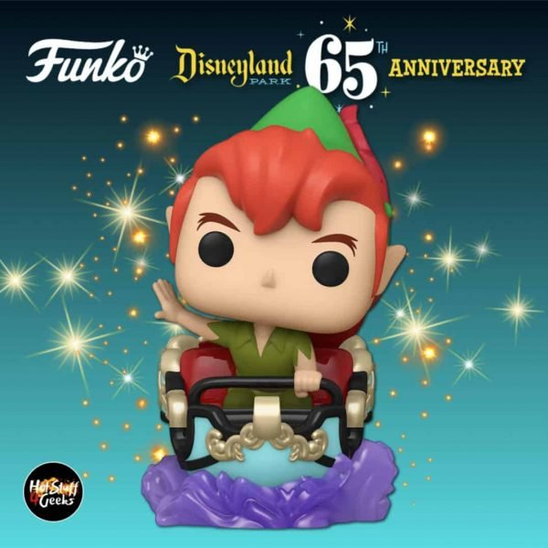 Funko Pop! Rides: Disneyland Resort 65th Anniversary – Peter Pan at Peter Pan's Flight Attraction Funko Pop! Vinyl Figure