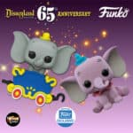 Funko Pop! Disney: Disneyland Resort 65th Anniversary - Purple Dumbo and Dumbo on the Casey Jr. Circus Train Attraction Funko Pop! Vinyl Figures - Funko Shop Exclusives