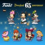 Funko Pop! Disney: Disneyland Resort 65th Anniversary - Mystery Minis: Captain Hook in Boat, Peter Pan in Boat, Alice in Cup, Cheshire Cat in Cup, Mickey in Matterhorn, Goody on Dumbo, and Minnie Mouse on Dumbo Mini Vinyl Figures