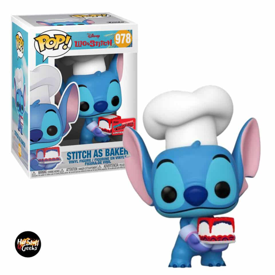 Funko Pop! Disney Lilo & Stitch: Stitch as Baker Funko Pop! Vinyl Figure - NYCC 2020 Exclusive