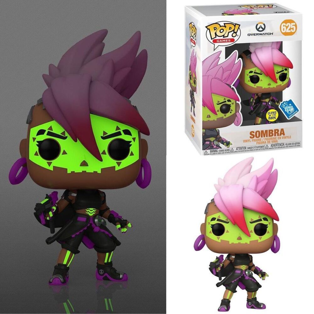 Funko Pop! Games: Overwatch - Sombra Los Muertos Glow-In-The-Dark (GITD) Funko Pop! Vinyl Figure - GameStop Exclusive