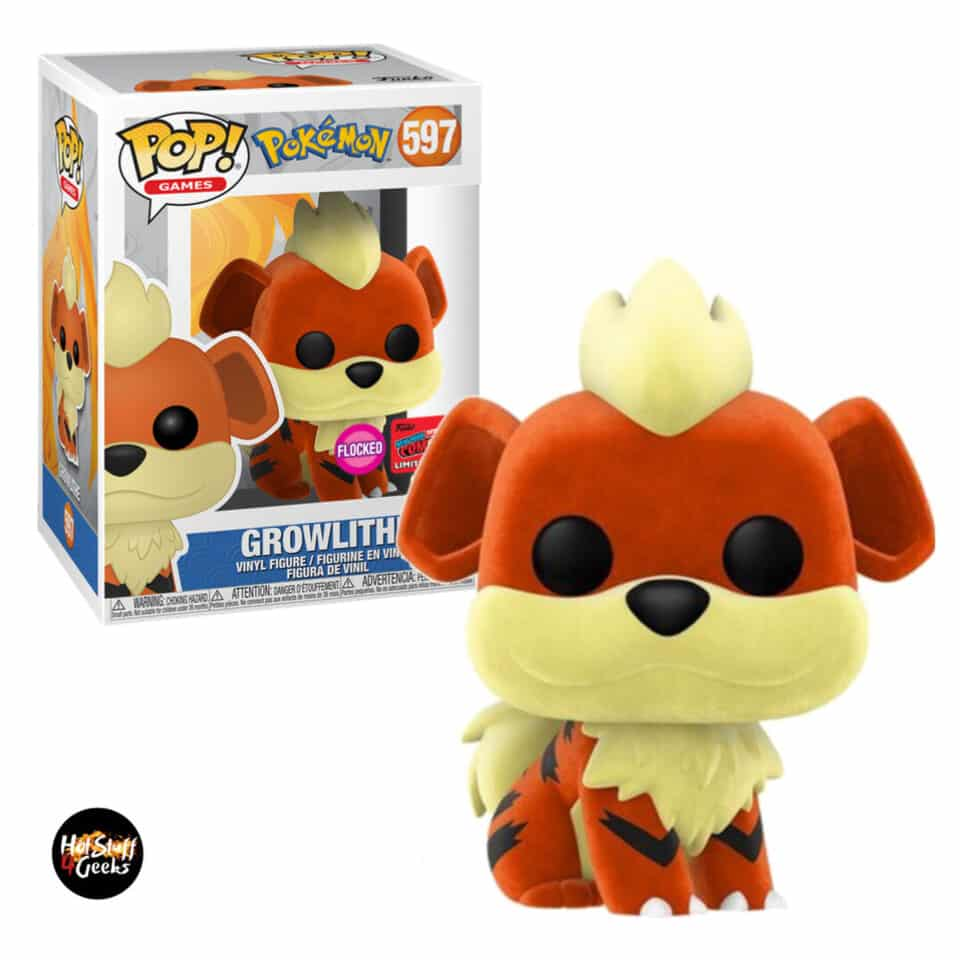 Funko Pop! Games Pokemon - Flocked Growlithe Funko Pop! Vinyl Figure - NYCC 2020 Exclusive