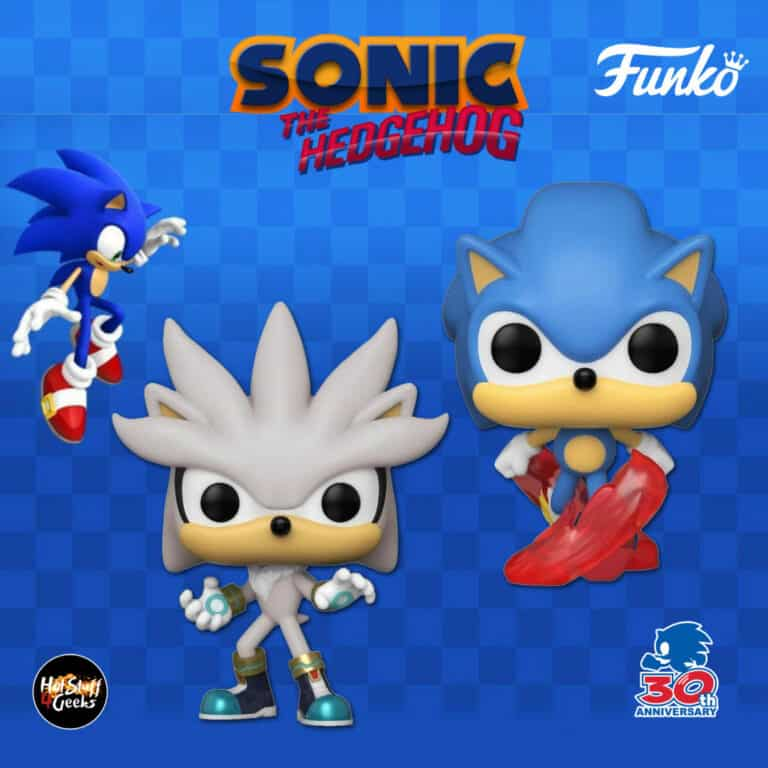 Funko Pop! Games: Sonic The Hedgehog - Sonic 30th Anniversary: Classic Sonic and Silver the Hedgehog Funko Pop! Vinyl Figures
