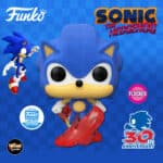 Funko Pop! Games: Sonic The Hedgehog - Sonic 30th Anniversary: Flocked Classic Sonic Funko Pop! Vinyl Figure - Funko Shop Exclusive