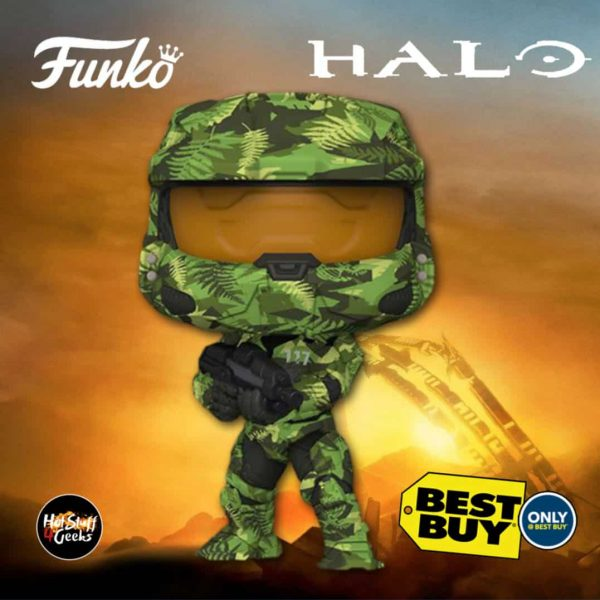 Funko Pop! Halo: Master Chief With MA40 Assault Rifle in Hydro Deco Funko Pop! Vinyl Figure - Best Buy Exclusive