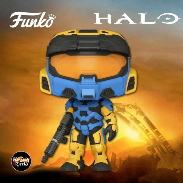 Funko Pop! Halo: Spartan Mark VII With VK78 Commando Rifle Yellow/Blue (In-Game Content) Funko Pop! Vinyl Figure