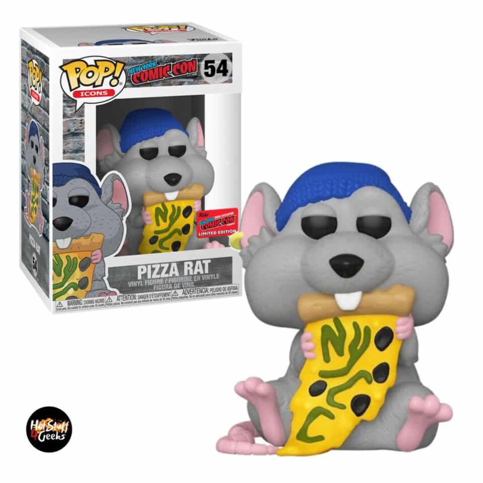 Funko Pop! Icons: New York Comic Con - Pizza Rat with Blue Hat Funko Pop! Vinyl Figure - NYCC 2020 Exclusive