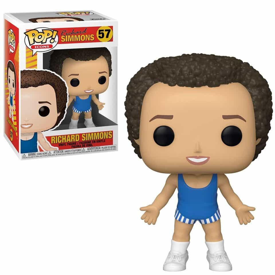Funko Pop! Icons: Richard Simmons Blue Outfit Funko Pop! Vinyl Figure