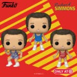 Funko Pop! Icons: Richard Simmons Dancing, Richard Simmons in Blue Outfit and Richard Simmons Red Outfit Funko Pop! Vinyl Figures