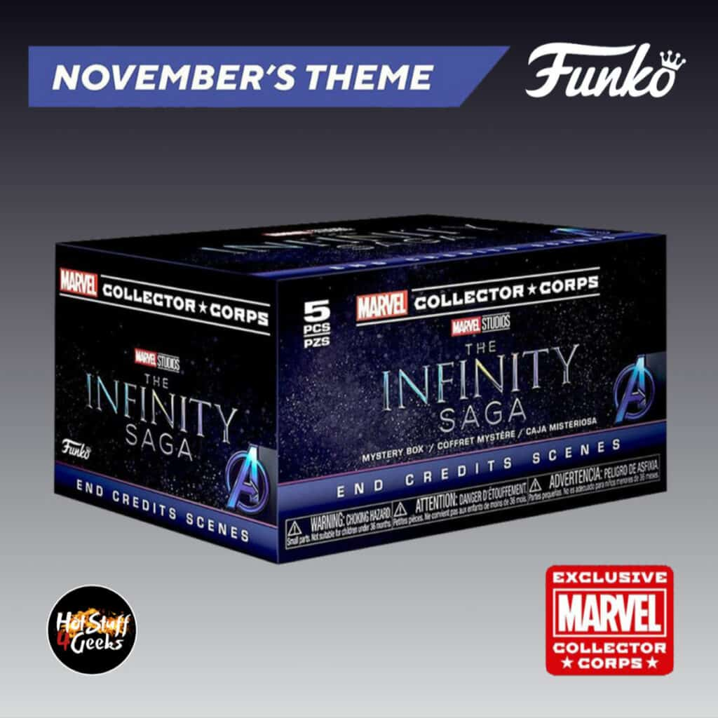 Funko Pop! Marvel Collector Corps: November 2020 Subscription Box - The Infinity Saga Theme