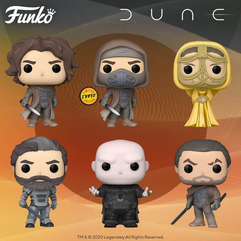 Funko Pop! Movies: Dune 2020 - Baron Vladimir Harkonnen, Paul Atreides with Chase Variant, Duke Leto, Lady Jessica (Gold), and Duncan Idaho Funko Pop! Vinyl Figures
