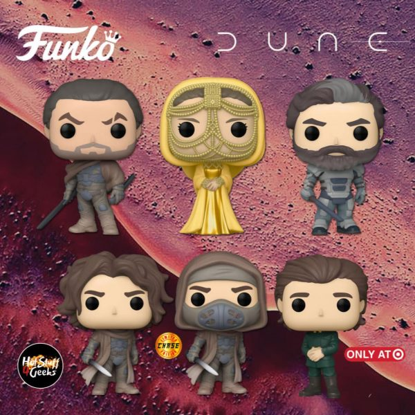 Funko Pop! Movies: Dune 2020 - Baron Vladimir Harkonnen, Paul Atreides with Chase Variant, Duke Leto, Lady Jessica (Gold), Duncan Idaho and Paul Atreides (Target Exclusive) Funko Pop! Vinyl Figures