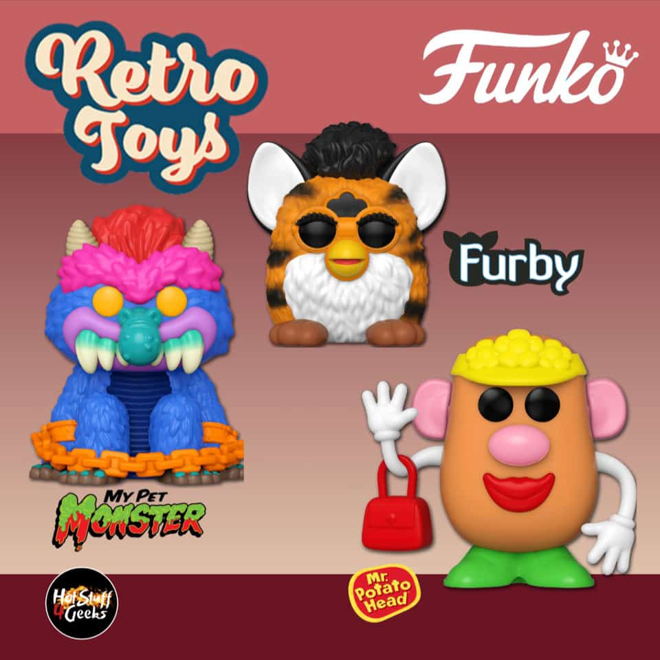 Funko Pop! Retro Toys: Hasbro - Tiger Furby, My Pet Monster and Mrs. Potato Head Funko Pop! Vinyl Figures - Wave 3