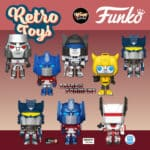 Funko Pop! Retro Toys: Transformers - Bumblebee, Jazz, Megatron, Optimus Prime, Siege Soundwave (GameStop Exclusive), Metallic Optimus Prime (Amazon Exclusive), Jetfire (Funko Shop Exclusive) Funko Pop! Vinyl Figures