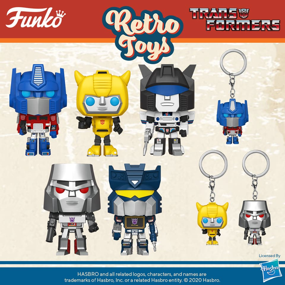 Funko Pop! Retro Toys: Transformers - Bumblebee, Jazz, Megatron, Optimus Prime Funko Pop! Vinyl Figures