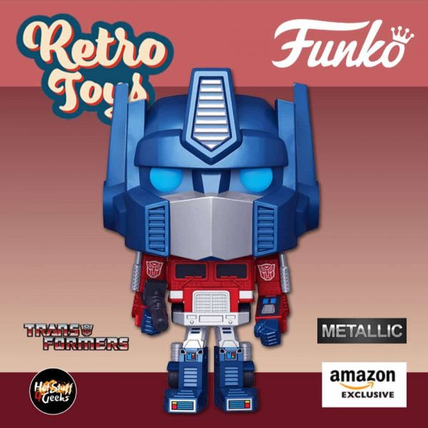 Funko Pop! Retro Toys: Transformers - Metallic Optimus Prime Funko Pop! Vinyl Figure - Amazon Exclusive