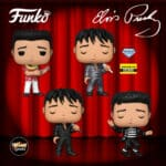 Funko Pop! Rocks: Elvis Presley - 1968 Comeback Special, Blue Hawaii, Jailhouse Rock, and 1968 Comeback Special Diamond Glitter (Entertainment Earth Exclusive) Funko Pop! Vinyl Figures - Release 2020