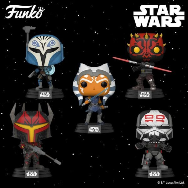 Funko Pop! Star Wars: The Clone Wars - Wrecker, Bo-Katan Kryze, Gar Saxon, Darth Maul and Ahsoka Funko Pop! Vinyl Figures 2020 release