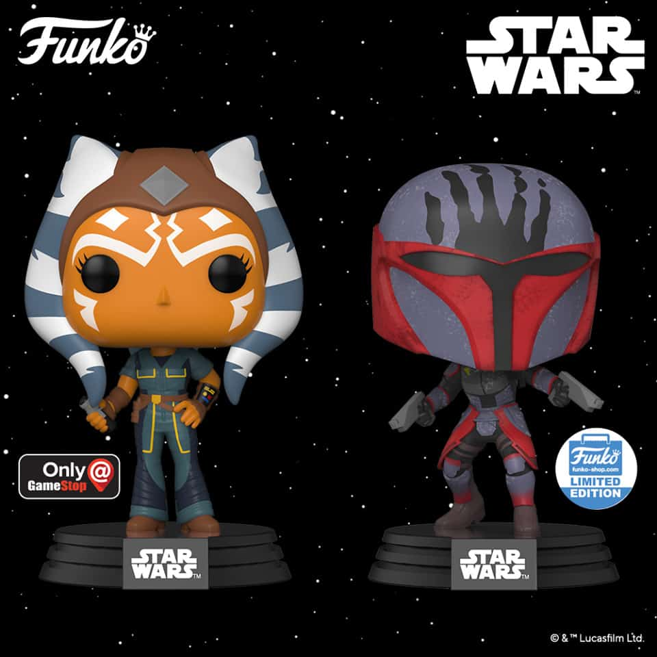 Funko Pop! Star Wars: The Clone Wars - Ahsoka With New Pose (GameStop Exclusive) and Mandalorian Super Commando (Funko Shop Exclusive) Funko Pop! Vinyl Figures 2020 release