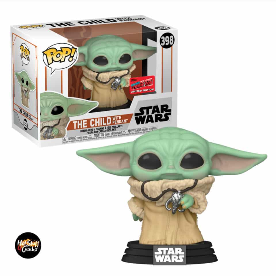 Funko Pop! Star Wars The Mandalorian - The Child With Pendant Funko Pop! Vinyl Figure - NYCC 2020 Exclusive