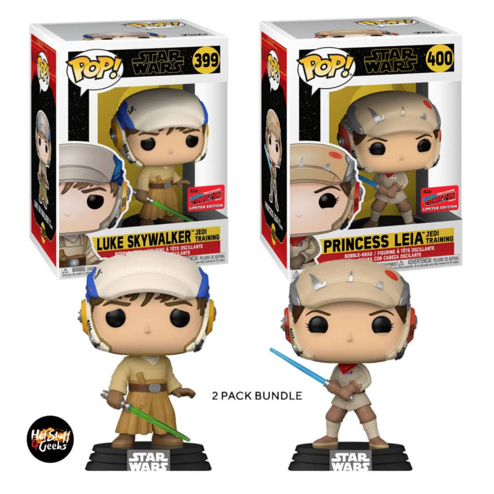 Funko Pop! Star Wars The Rise of Skywalker - Luke Skywalker and Princess Leia The Jedi Training 2-Pack Funko Pop! Vinyl Figures - NYCC 2020 Exclusive