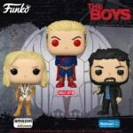 Funko Pop! Television: The Boys - Starlight in Bodysuit (Amazon Exclusive), Billy Butcher Bloody (Walmart Exclusive), and Homelander Glowing Eyes (Target Exclusive) Funko Pop! Vinyl Figures - Wave 2020