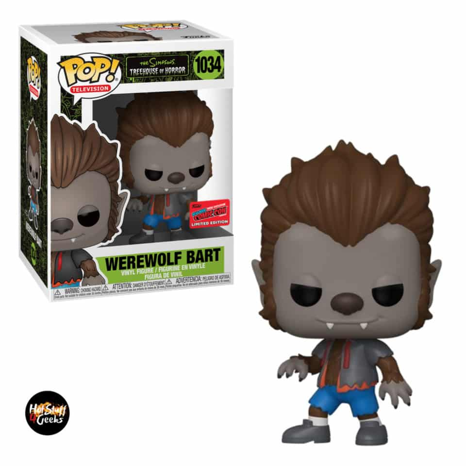 Funko Pop! Television The Simpsons Treehouse of Horror - Werewolf Bart Funko Pop! Vinyl Figure - NYCC 2020 Exclusive
