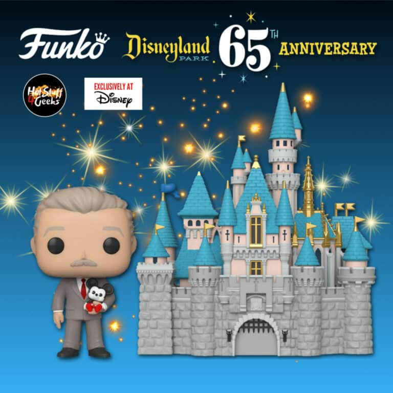 Funko Pop! Town: Disneyland Resort 65th Anniversary - Sleeping Beauty Castle And Walt Disney Funko Pop! Vinyl Figure - Disney Parks Exclusive
