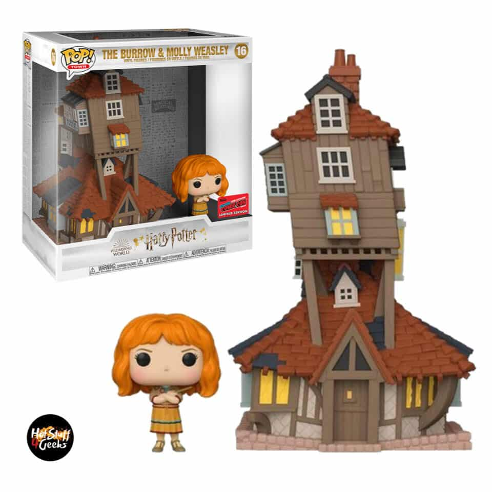 Funko Pop! Town Harry Potter - The Burrow and Molly Wasley Funko Pop! Vinyl Figure - NYCC 2020 Exclusive